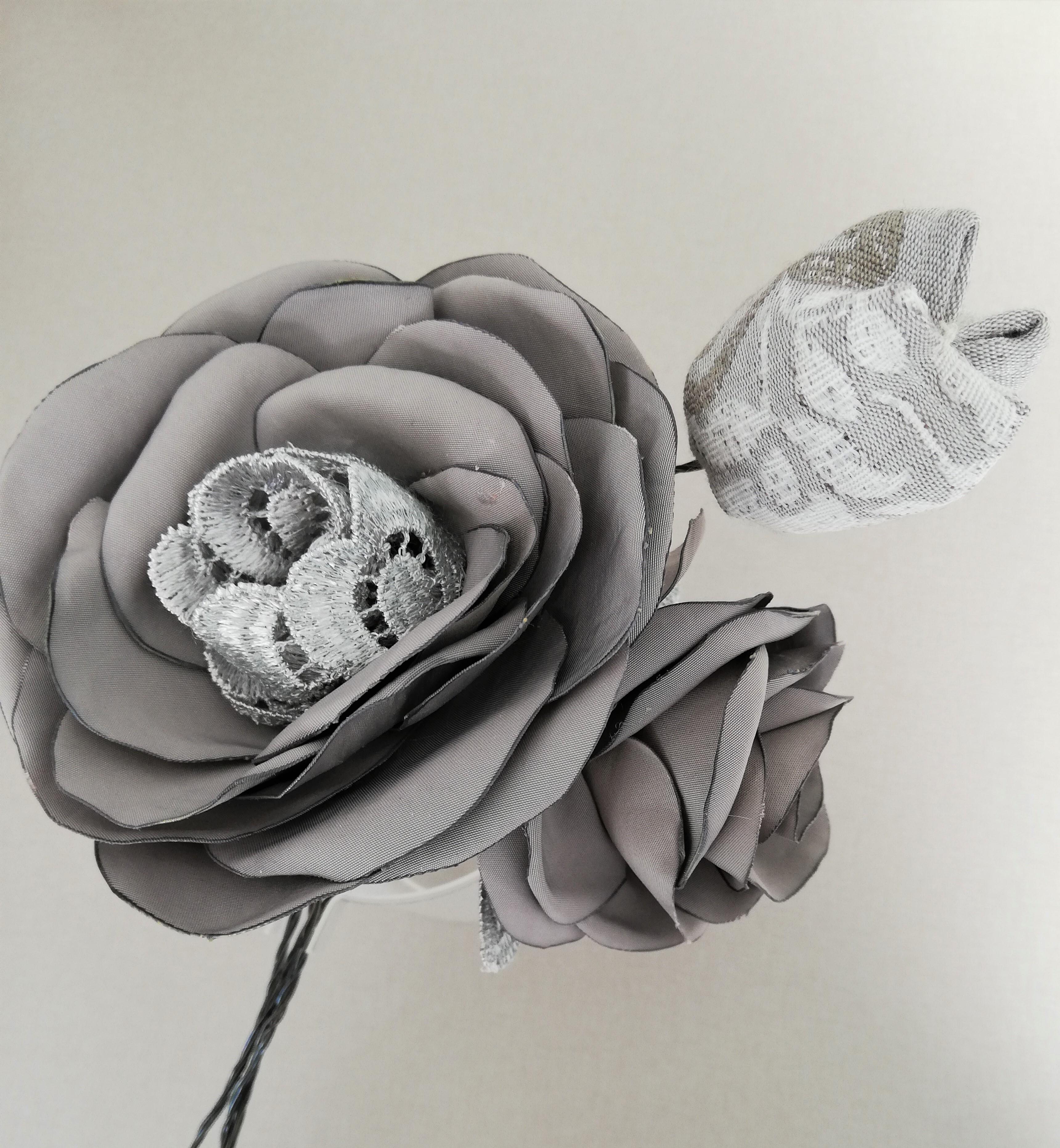 Les fleurs en tissu de Hyacinthe